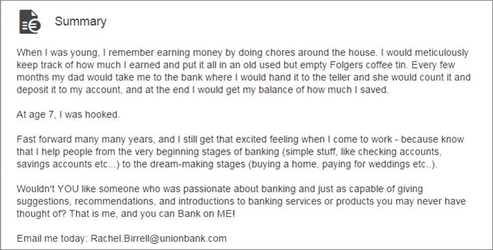 LI summary banker